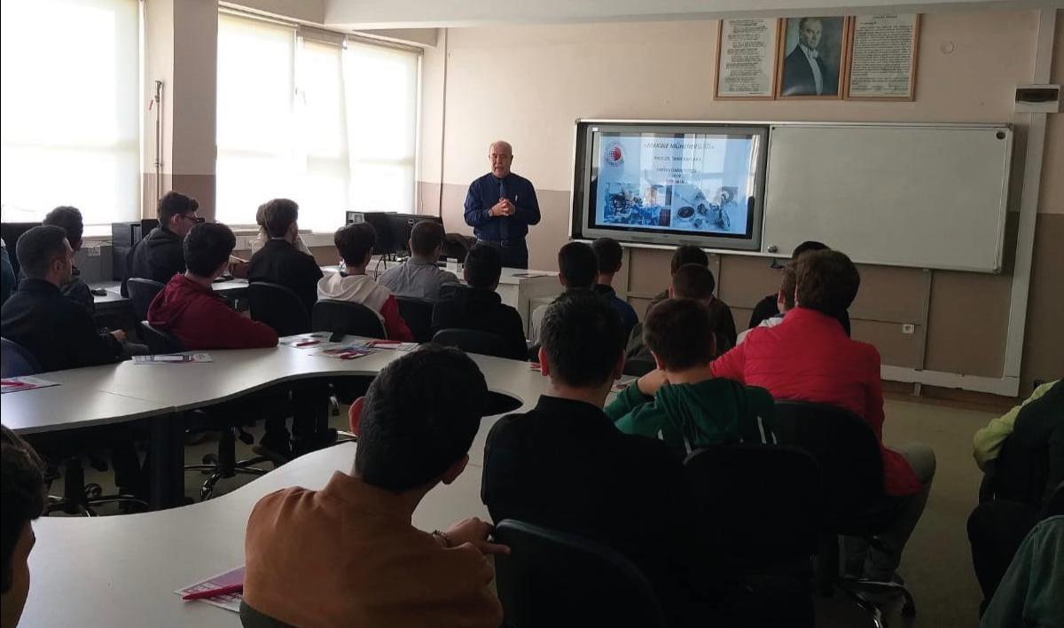 Profesör Doktor Tarık Baykara Haydarpaşa Teknik Anadolu Lisesi Öğrencileriyle Buluştu