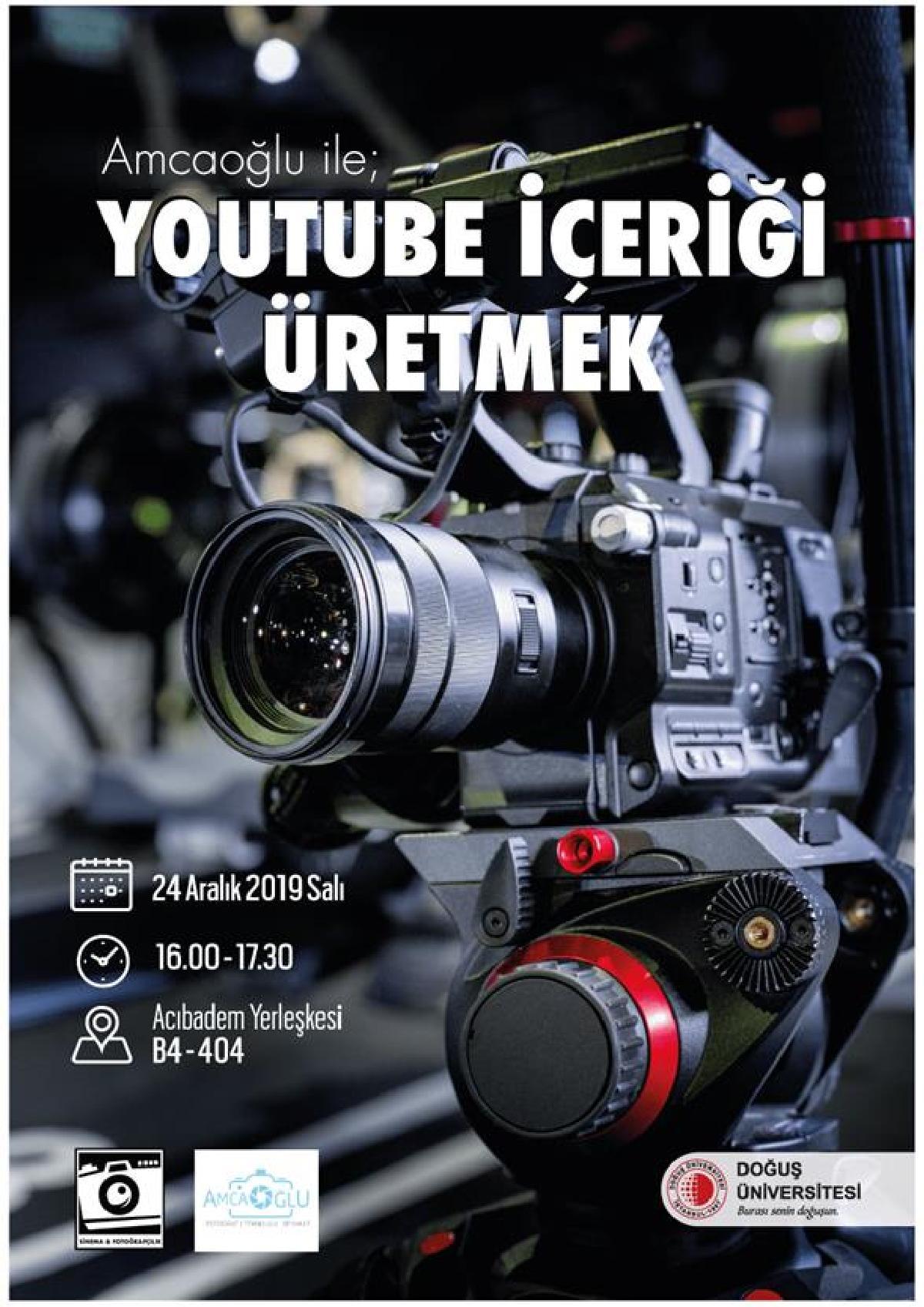 Sinema ve Fotoğrafçılık Kulübü Youtuber Ümit Akbaş Söyleşisi