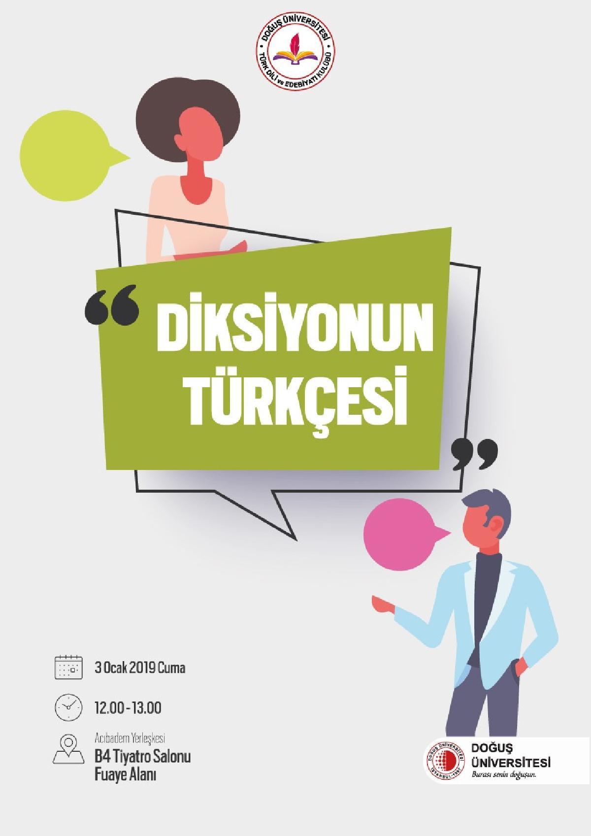 Türk Dili ve Edebiyatı Kulübü Diksiyonun Türkçesi